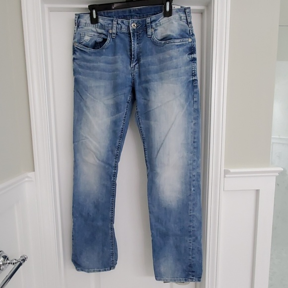 BUFFALO DAVID BITTON EVAN X Slim Stretch Wash Blue Denim  Jeans NWT 32x32 $109